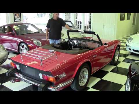 1975 Triumph TR6 Vintage Classic Collectible Tampa Bay Sports Cars