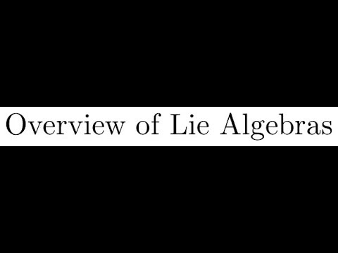 0. Overview of Lie Algebras