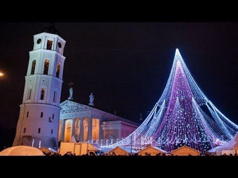 Lithuania. Vilnius. Christmas tree 2017/2018 (Most Beautiful Christmas Tree in Europe)