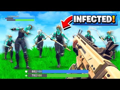 *BEST* INFECTED-ZOMBIE Custom Gamemode in Fortnite Playground V2 Mode! (Battle Royale)