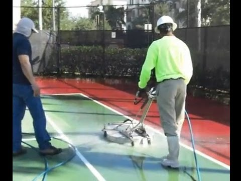 Pressure Cleaning A Tennis Court Using A Ant3c Hydro