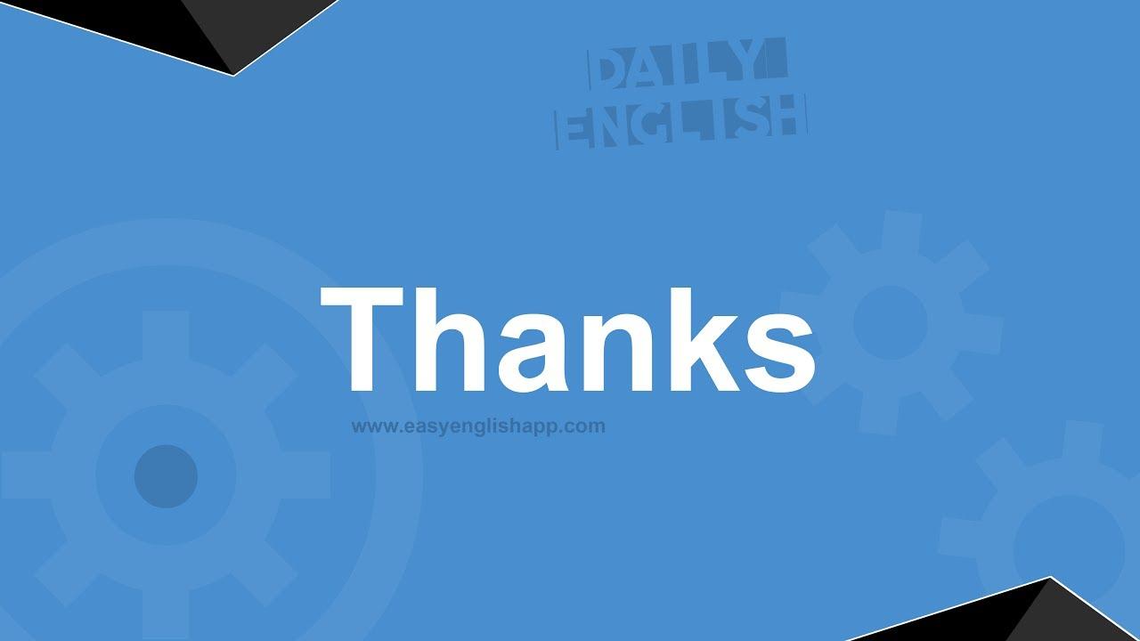 كيف نشكر الآخرين في المحادثة باللغة الإنجليزية عبارات شائعة Youtube