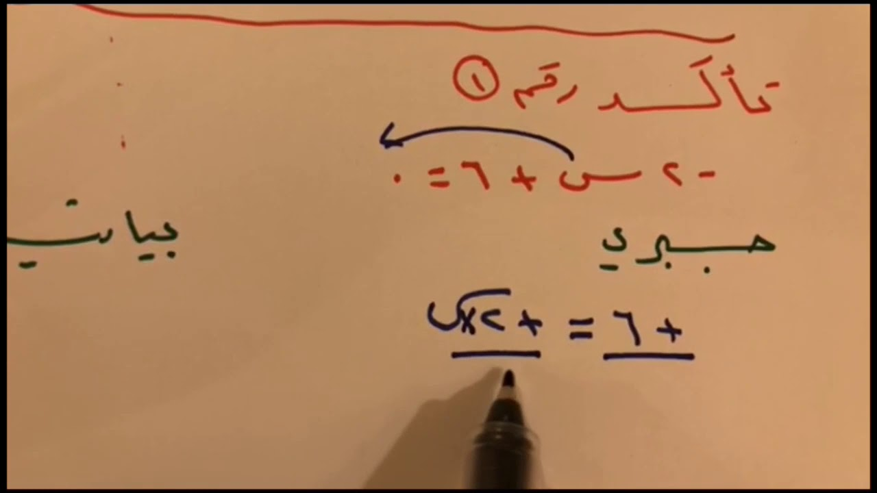 حل المعادلات الخطية بيانيا ثالث متوسط الفصل الدراسي الأول Youtube