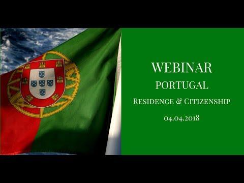 4 April Webinar Portuguese Citizenship via Investment program