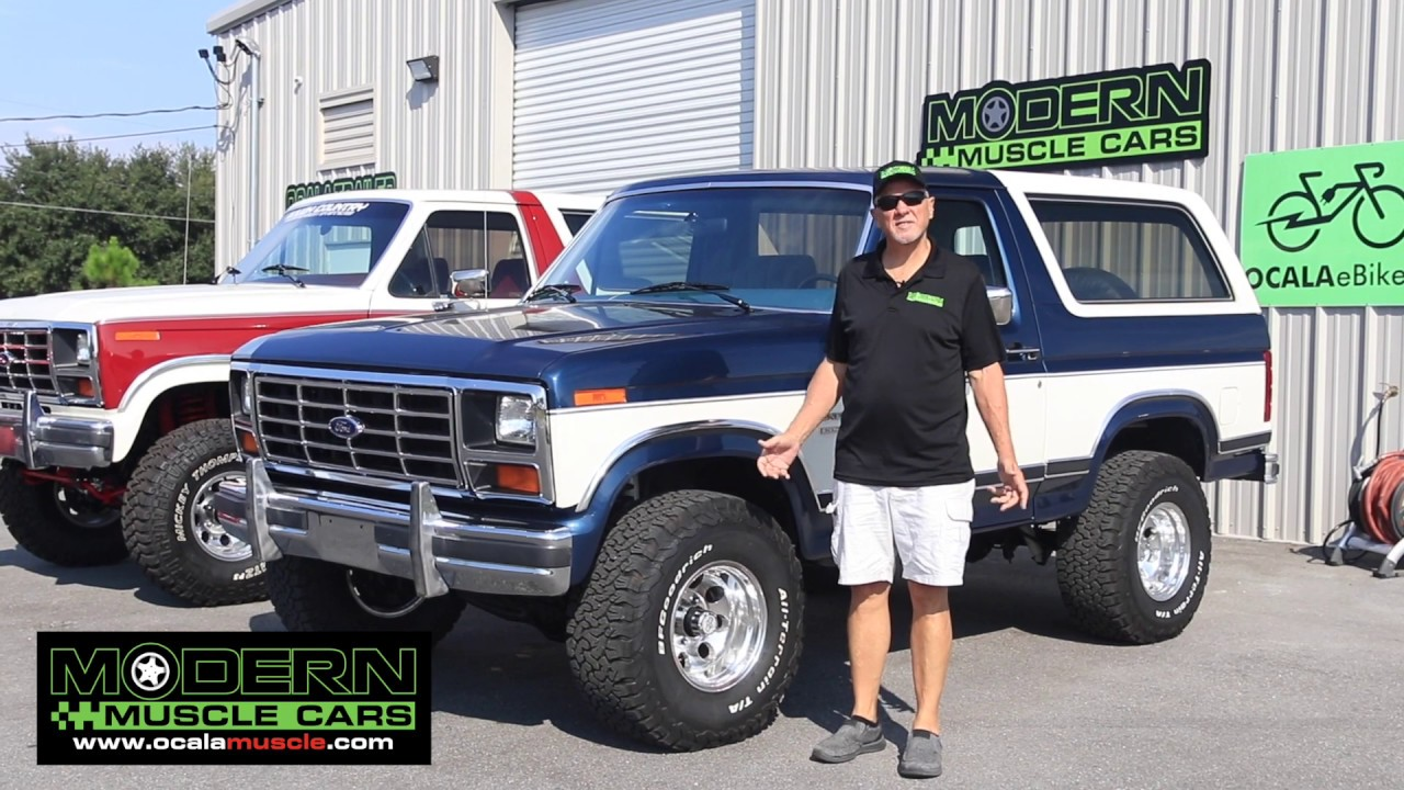 fully restored 1986 ford bronco xlt modern muscle cars youtube fully restored 1986 ford bronco xlt modern muscle cars