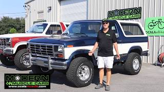 Fully Restored 1986 Ford Bronco XLT - Modern Muscle Cars