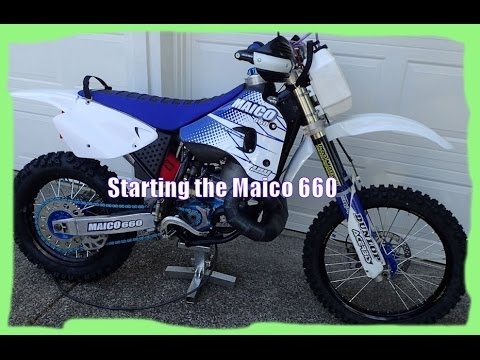 Starting the Maico 660 (Big Bore Dirtbike)