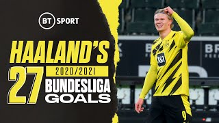 Erling Haaland is built different 🤖 | Here are his 27 Bundesliga goals from 2020/21!