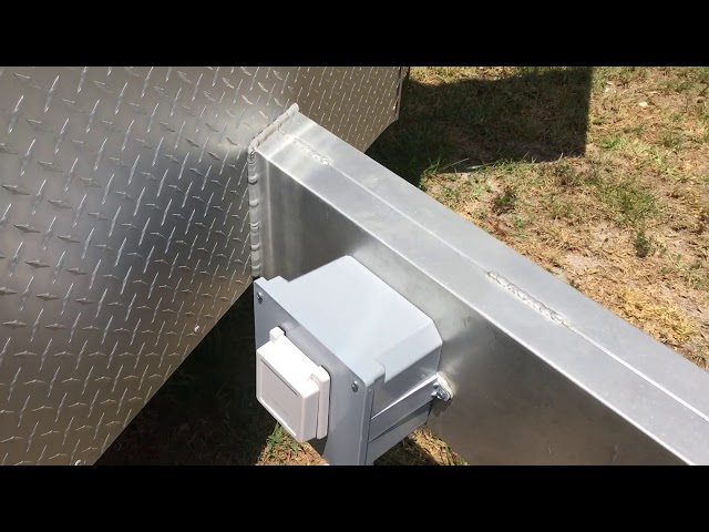 RV Trailer Build #113 - Installed 50AMP Outdoor RV Generator Inlet Receptacle