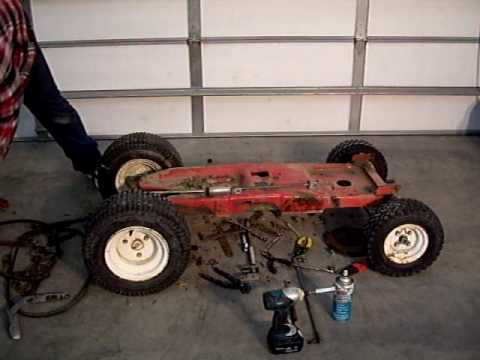 Home Made Rc Car From A Lawn Tractor Part 2 Youtube