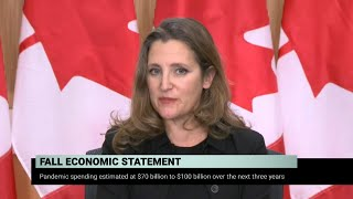Finance Minister Chrystia Freeland discusses her government's fall economic statement