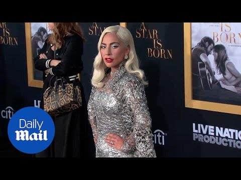 Lady Gaga twinkles in silver dress at 'A Star Is Born' premiere