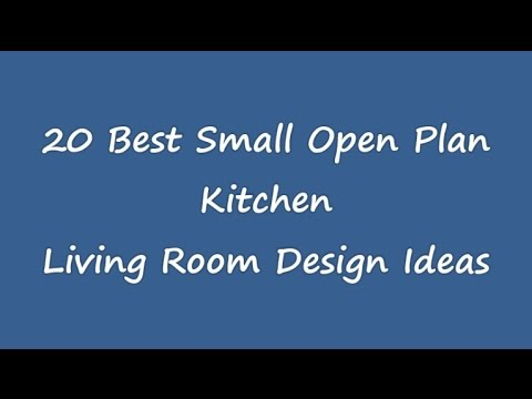 25 best small open plan kitchen living room design ideas