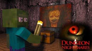 Dungeon Nightmares Horror Game | Monster School | Minecraft Animations