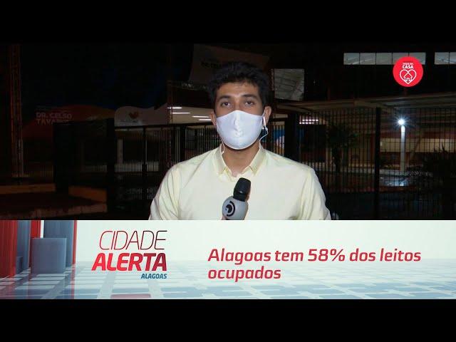 Alagoas tem 58% dos leitos ocupados para tratamento da Covid-19