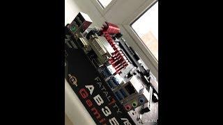 asrock AB350 Gaming K4 Видео обзор работоспостобности для нашего подписчика