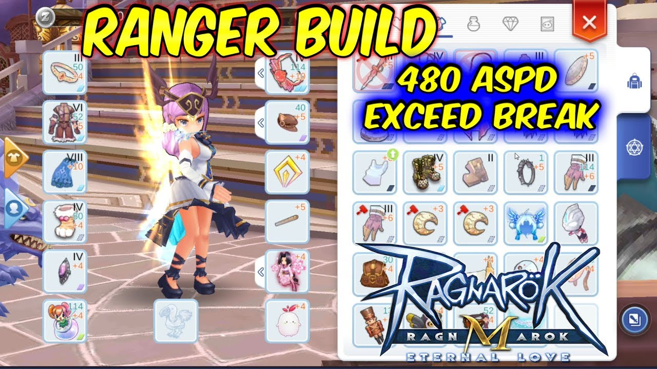 Ranger Build 480 ASPD with Exceed Break | Ragnarok Mobile Eternal Love