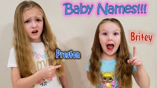Choosing a Name for Our Baby Sister or Brother!