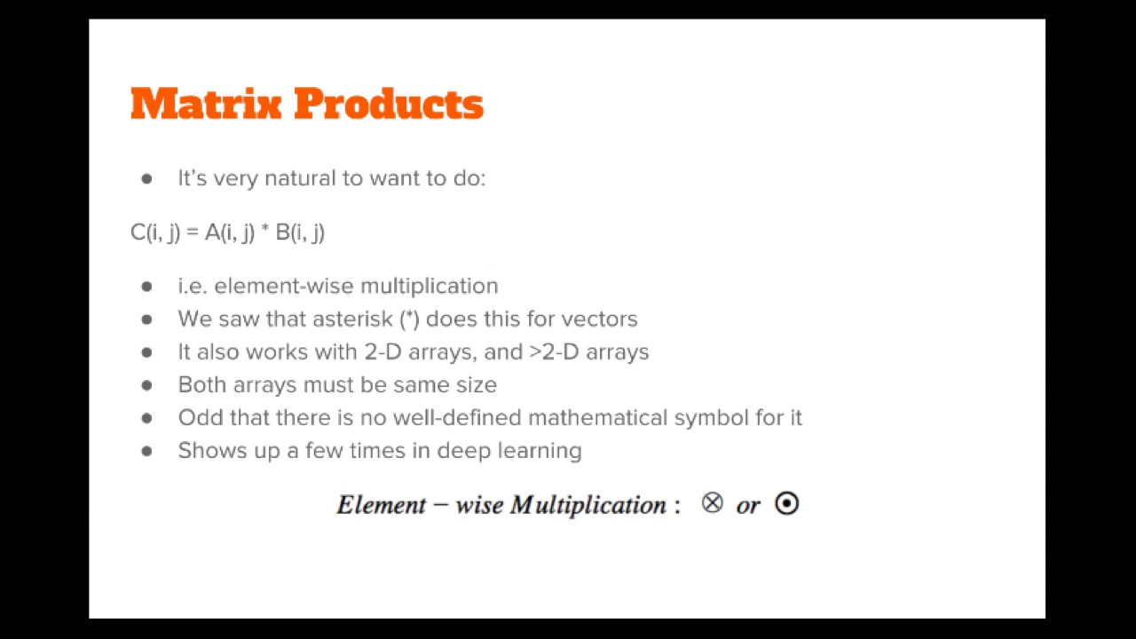 The numpy stack in python lecture 8 matrix products youtube the numpy stack in python lecture 8 matrix products biocorpaavc