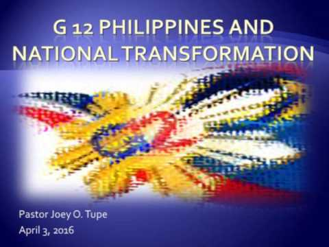 G12 Philippines and National Transformation