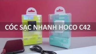 CÓC SẠC NHANH HOCO C42 - CÓC SẠC QUICK CHARGE 3.0