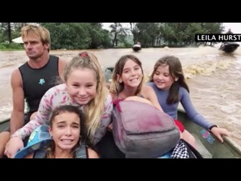 Surf legend Laird Hamilton rescues people stuck in Hawaii floods