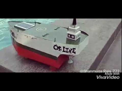 SOLAR PROPELLED SHIP WITH AIR LUBRICATION SYSTEM