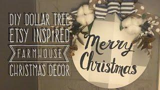 DIY Dollar Tree Etsy Inspired Farmhouse Decor