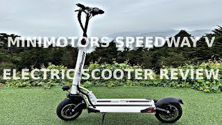 Minimotors Speedway V (5) Electric Scooter Review and Impressions