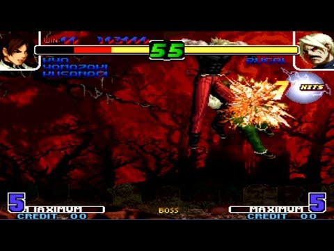 KOF 2005 - Boss Rugal Performing Kaiser Wave Glitch (WHAT)