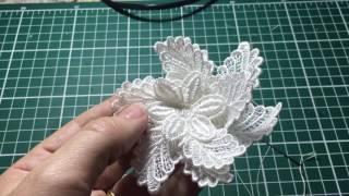 Flor de renda Guipure