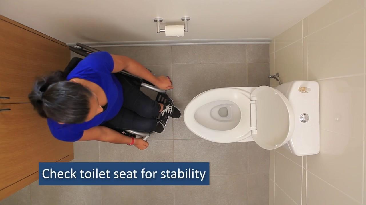 Bathroom Transfers: SCI Empowerment Project Wheelchair Skills Video ...