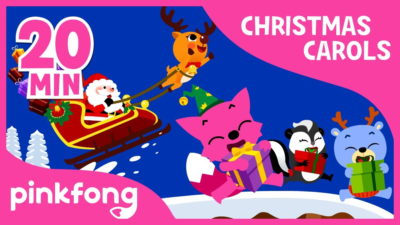 Christmas Carols For Kids.Jolly Old St Nicholas Christmas Carols Compilation Pinkfong Songs For Children