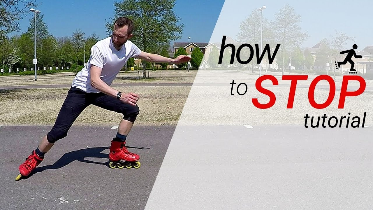 Download How to stop on inline skates / rollerblades - 3 stops for beginners tutorial