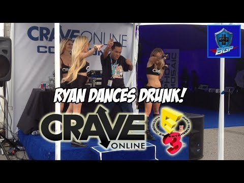 E3 2013 - Ryan Dances Drunk With Crave Online Girls (Battle Geek Plus)