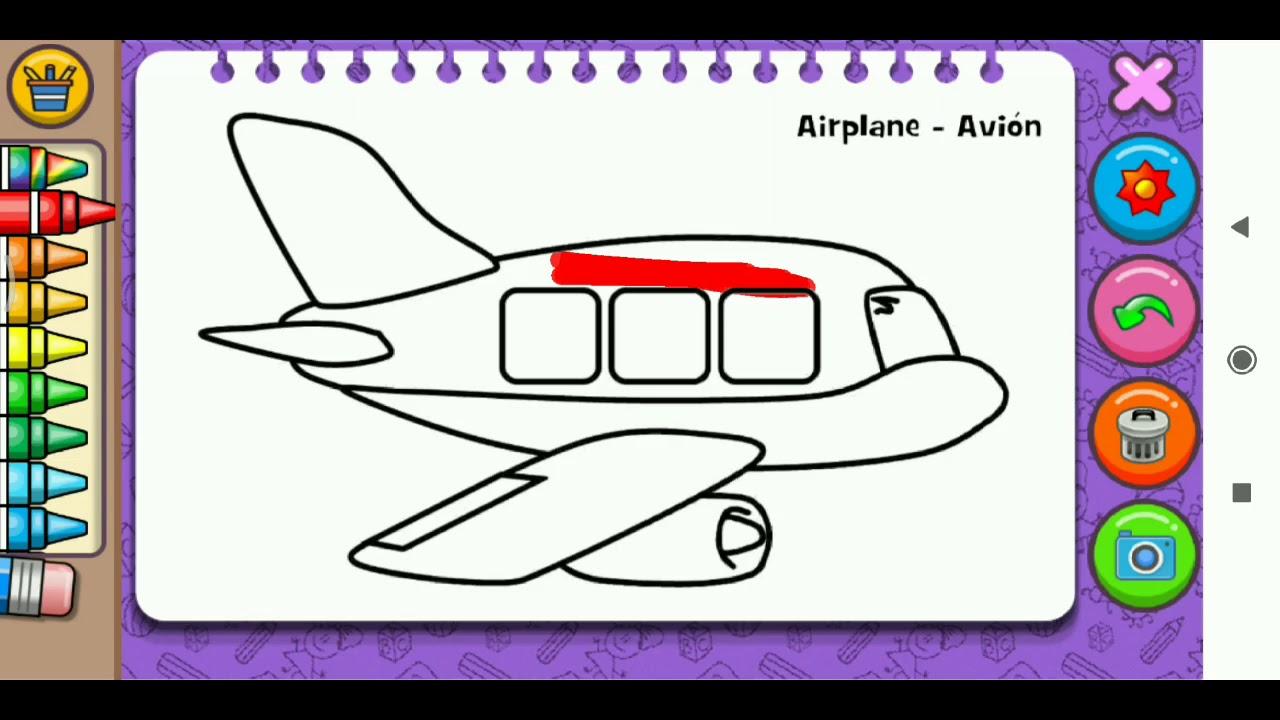 Yuk Belajar Mewarnai Gambar Pesawat Terbang Untuk Anak
