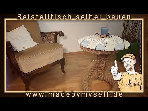 Beistelltisch selber bauen, Tisch aus Tau Maritim Shabby Chic Style selber machen