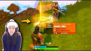 RANDOM GIVES ME LEGENDARY SCAR | Let's Play Battle Royale Fortnite Duos