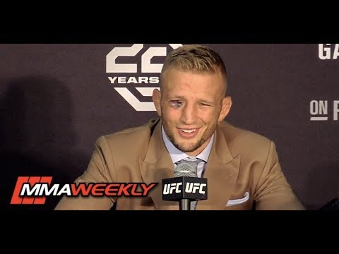 UFC 227: TJ Dillashaw Post-Fight Press Conference  (FULL)