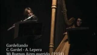 Piazzolla, Gardel, Maderna: Duo de Flauta y Arpa Aquaviva-Ruiz Cheylat interpreta tangos clásicos.