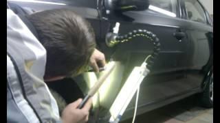 Chevrolet Aveo  Ремонт вмятин без покраски(Профессиональное удаление вмятин, по немецкой технологии, без повреждения лакокрасочного покрытия. Сарато..., 2013-08-01T18:08:34.000Z)
