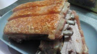 Oven Baked Lechon Kawali Crispy Ribs