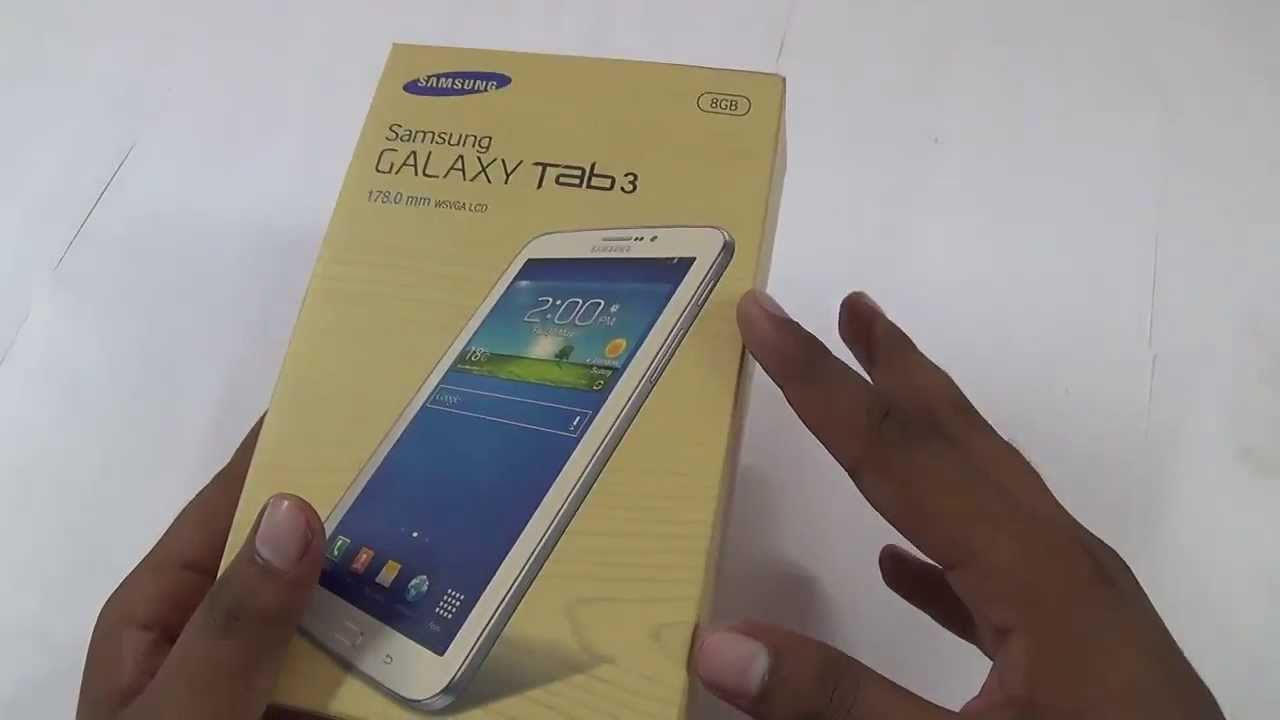 samsung galaxy tab 3 t211 unboxing   retail box contents   youtube
