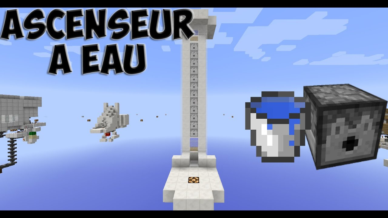 Tuto Ascenseur à Eau Minecraft 1 8 Fr Hd Youtube
