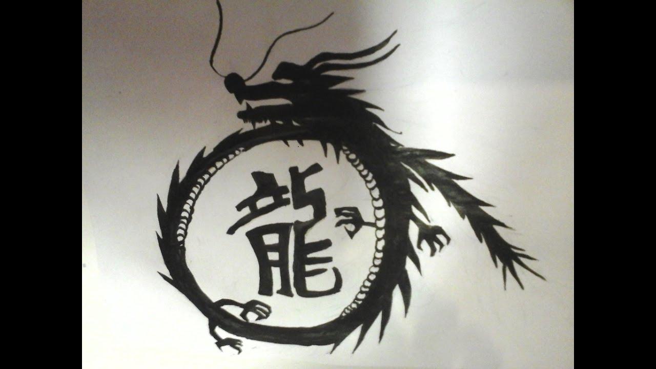 Dessiner Un Dragon Encre De Chine Youtube