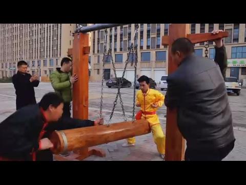 Iron Crotch: Chinese Kung Fu master demonstrates