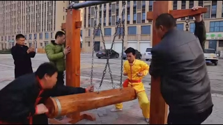 Iron Crotch  Chinese Kung Fu master demonstrates 'ball breaking stamina'