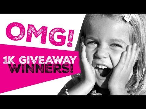 1K Giveaway WINNERS