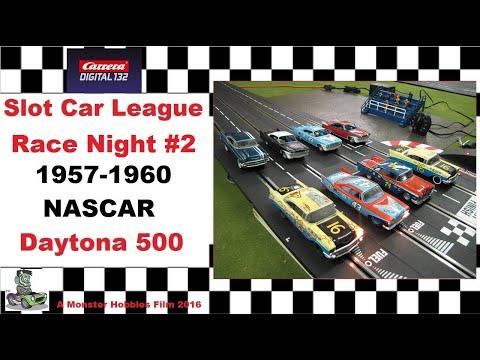 Carrera Slot Car 1957-1960 NASCAR Daytona 500 Qualifier #2 race night.