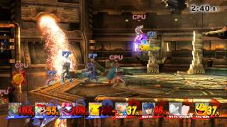 Amiibos vs Level 9 CPU - Super Smash Bros